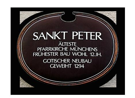 Schild von Sankt Peter